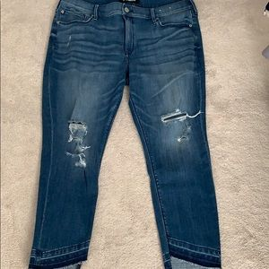 Express ripped jeans